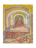 Corridor in the Asylum (St. Rémy) Giclée par Vincent Van Gogh