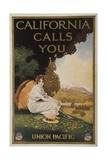 California Calls You  Union Pacific Travel Poster
