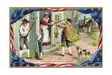Call to Arms-American Revolution Postcard