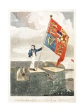 Boy Raising the Royal Standard