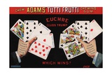 Adams' Tutti Frutti Chewing Gum Trade Card