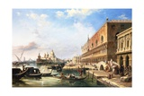 On the Grand Canal  Venice  Italy