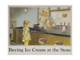 Buying Ice Cream at the Store Poster