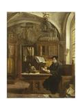 Martin Luther Translating the Bible, Wartburg Castle, 1521 Giclée par Eugene Siberdt