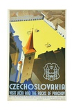 Czechoslovakia - Visit Jicin and the Rocks of Prachov Travel Poster
