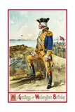 My Greetings on Washington's Birthday Postcard