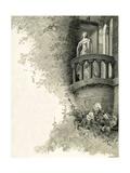 Illustration of Juliet on Her Balcony