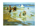 Children at Play on the Beach