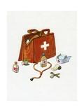 1960s Illustration of a Medical or Doctor's Bag
