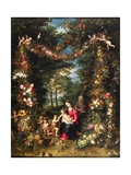 Garland of Flowers with Virgin and Child