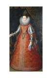Portrait of the Infanta Isabella Eugenia  Standing Full-Length Wearing a Brocade Dress