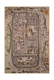 Map of Jerusalem and Surrounding Area Engraved