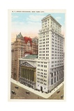 NY Stock Exchange  New York City Postcard