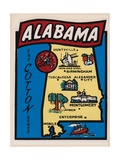 Alabama Travel Decal