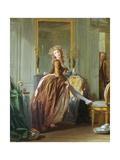 An Elegant Woman Dresses