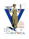 For Every Fighter a Woman Worker War Effort Poster