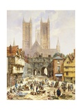 A View of Lincoln Cathedral  England