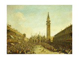 The Piazza San Marco  on the Doge's Coronation Day