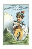 Celluloid Waterproof Collars  Cuffs and Shirt Bosoms Trade Card