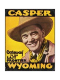 Casper Wyoming Luggage Label