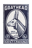 Goat Head Indian Matchbox Label