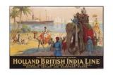 Holland British India Line Poster Giclée par E.V. Hove