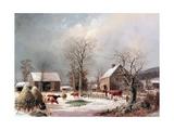 Farmyard in Winter Giclée par George Henry Durrie