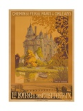Chemin De Fer De Paris a Orleans  French Travel Poster La Loire