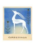Art Deco Christmas Design with an Ibex