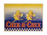Chek-R-Chix American Feed Advertising Poster