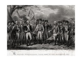 The British Surrendering their Arms to General Washington  1781