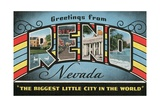 Greetings from Reno  Nevada  the Biggest Little City in the World