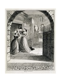 Illustration of Jack Sheppard Escaping from His Cell at Newgate Prison