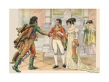 Illustration of Napoleon Offering Joachim Murat the Hand of His Sister Caroline
