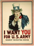 Poster de recruitement pour l'armée américaine, I Want You for the U.S. Army Giclée par James Montgomery Flagg