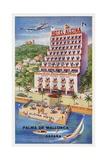 Hotel Alcina  Palma De Mallorca  Espana Luggage Label