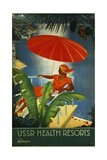 Ussr Health Resorts Intourist Travel Poster