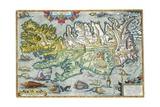 Islandia 16th-Century Map of Iceland Giclée