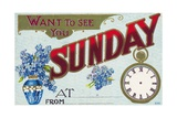 Want to See You Sunday Postcard