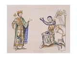 Print of a 12th-Century King and Knight
