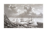 Illustration of the Hms Hecla and Griper Caught in Ice  August 1820