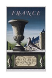 France  Country of Chateau  French Travel Poster