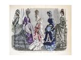 Victorian Women in December Fashions  1875