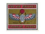 Vulcan Matches Matchbox Labels