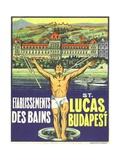 St Lucas  Budapest Luggage Label