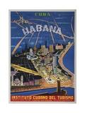 Cuba  Havana  Instituto Cubano Del Turismo  Travel Poster