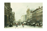 New York Winter Scene in Broadway