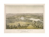 Lithograph of Central Park