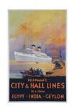 Ellerman's City and Hall Lines Cruise Poster