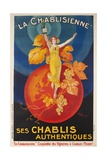 La Chablisienne, Ses Chablis Authentiques, French Wine Poster Giclée